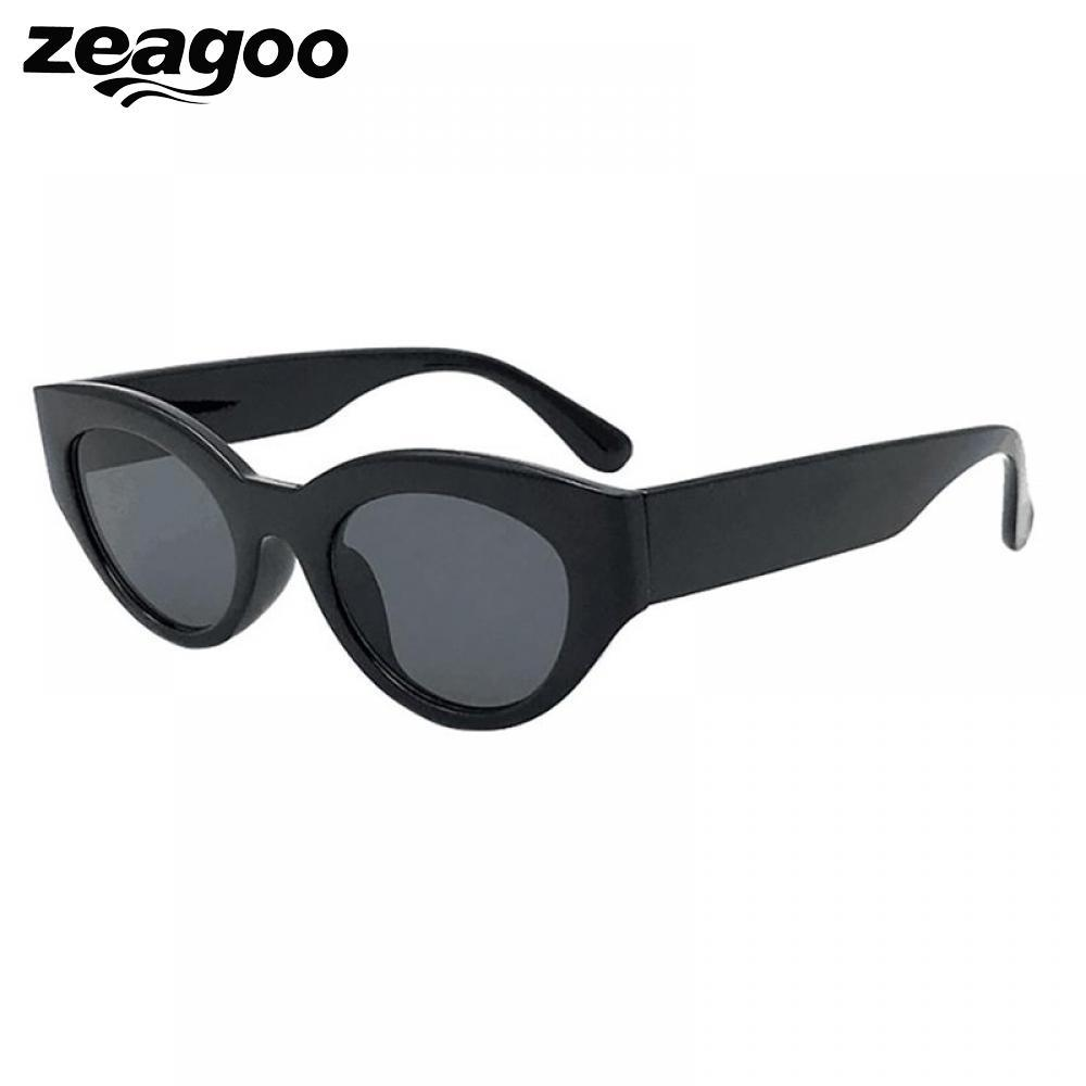 4d1d40fb79d Zeagoo Fashion Oval Summer Eyewear Plastic 2018 Lens Sunglasses ...