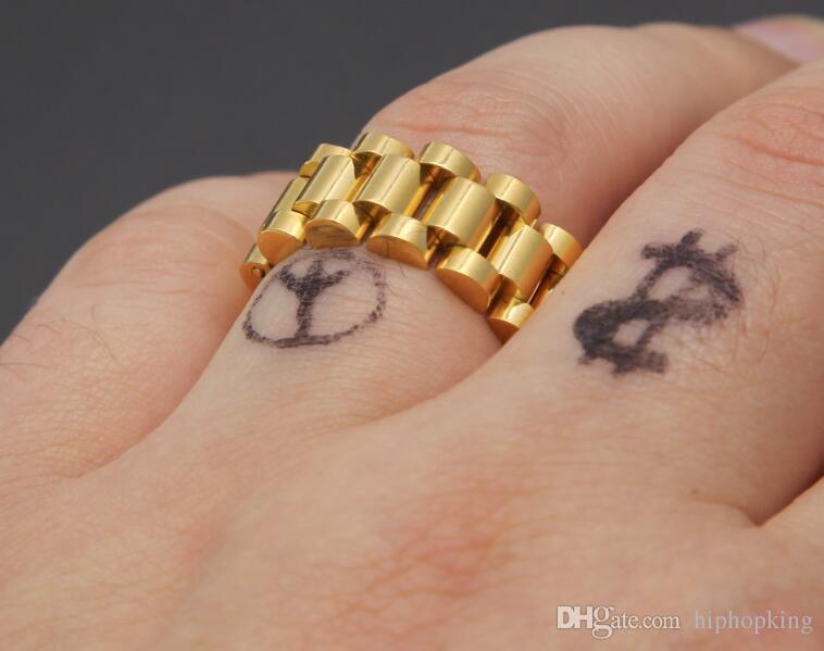 Fashion Rings Square Rings 18k Titanium Steel Man Finger Silver