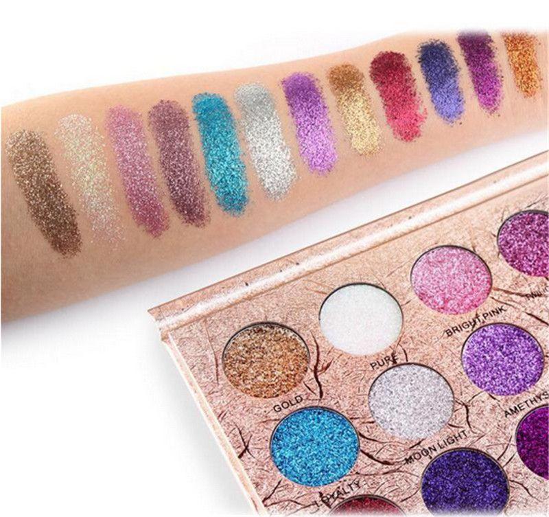 Beauty & Health Official Website 2017 Professional Eyeshadow Palette Glitter Makeup Waterproof Diamond Pigment Eyes 6 Color Gold White Purple Blue Eye Shadows