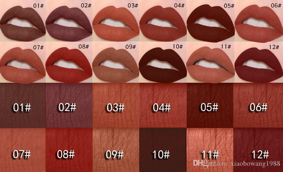 MISS ROSE New Fashion Color Beauty Red Lips Baton Matte Lip Stick Waterproof Makeup Pigment Brown Nude Matte Lipstick Pencils