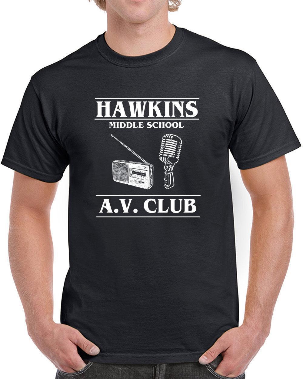 Großhandel 538 Hawkins Middle School Av Club Herren T Shirt Fremde