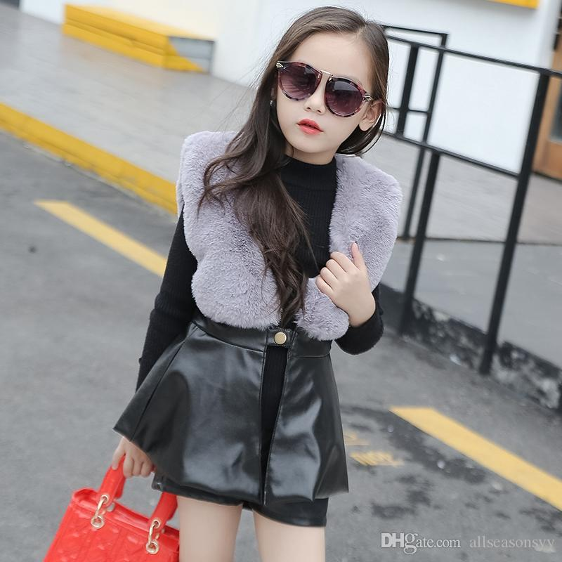 814fb03f7 New Arrival Baby Girls  Faux Fur Vest Children S Clothing Long Style ...