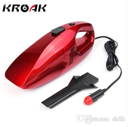 KROAK Mini Car Vacuum Cleaner 12V 75W Portable Handheld Wet Dry Dual-use Super Suction Dust Cleaner Catcher Collector