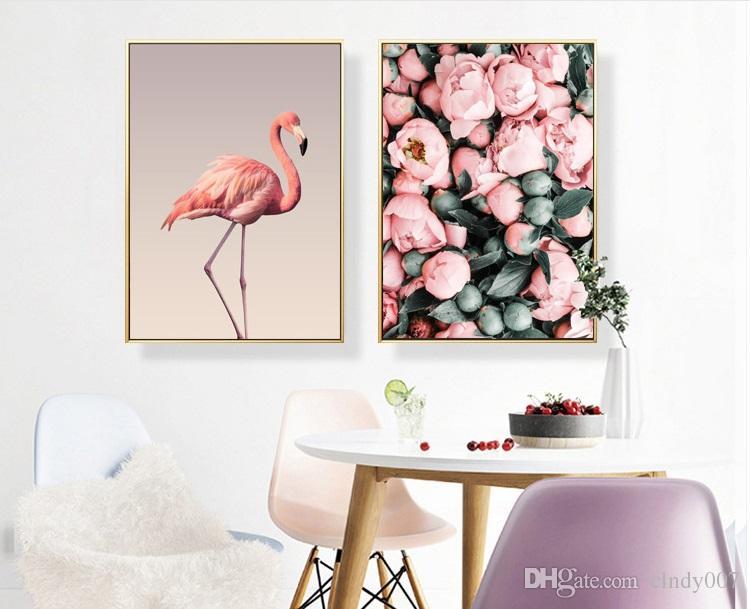 Attraktiv Großhandel Flamingo Wohnzimmer Dekoration Malerei Home Dekoration Rosa Farbe  Mädchen Wohnzimmer Nacht Wohnheim Cafe Von Clndy007, $54.78 Auf De.Dhgate.
