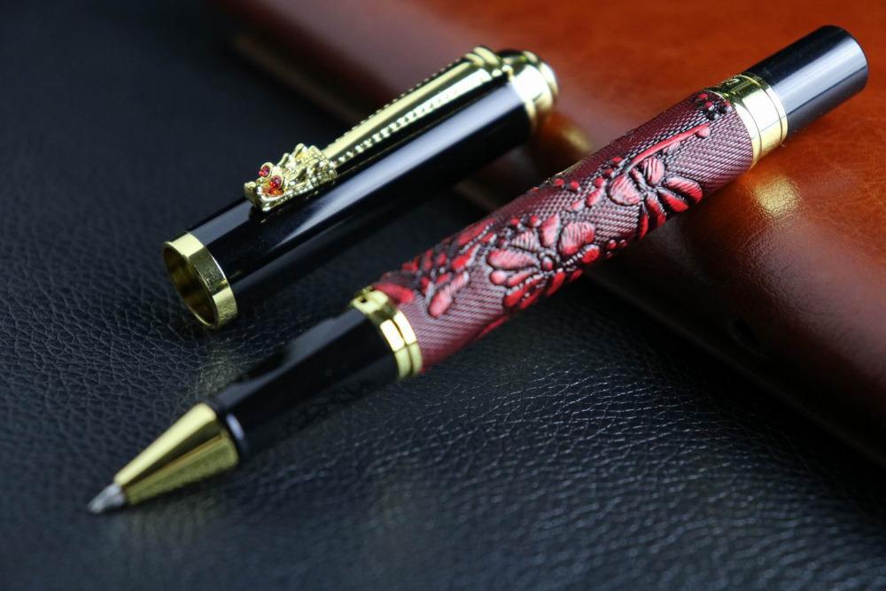 New Office Pen Red Wine Cortex Grape Pattern Chinese Dragon Twist Gift  Rollerball Pen Sheaffer Ballpoint Pen Cheap Fountain Pen From Pureairr, ...
