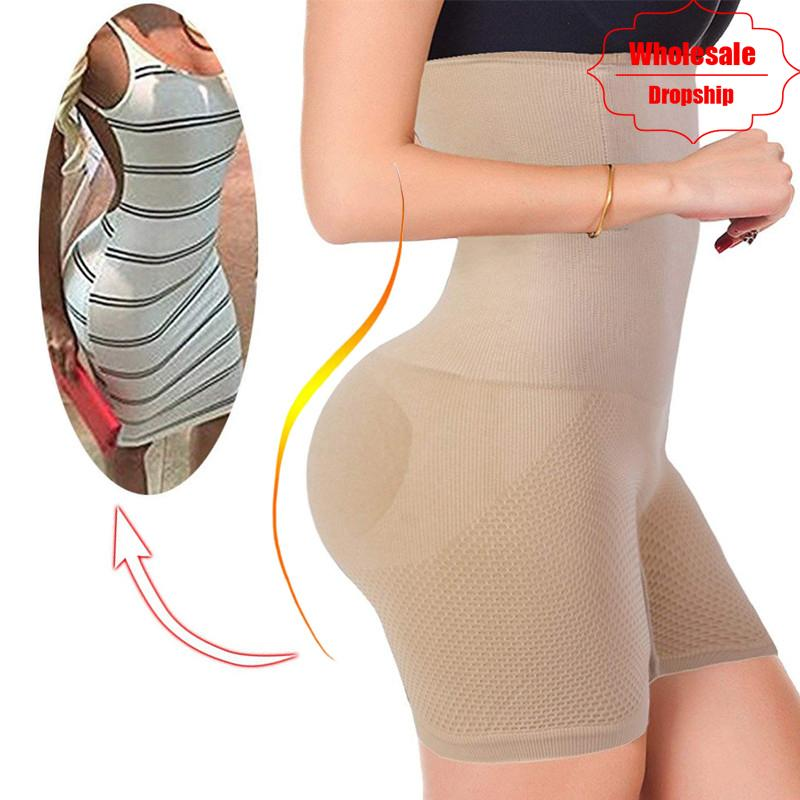 a551549274 2019 NINGMI Sexy Butt Lifter Women Slimming Shapewear Tummy Control Panties  High Waist Trainer Body Shaper Boyshort Tight Power Short From Lbdapparel