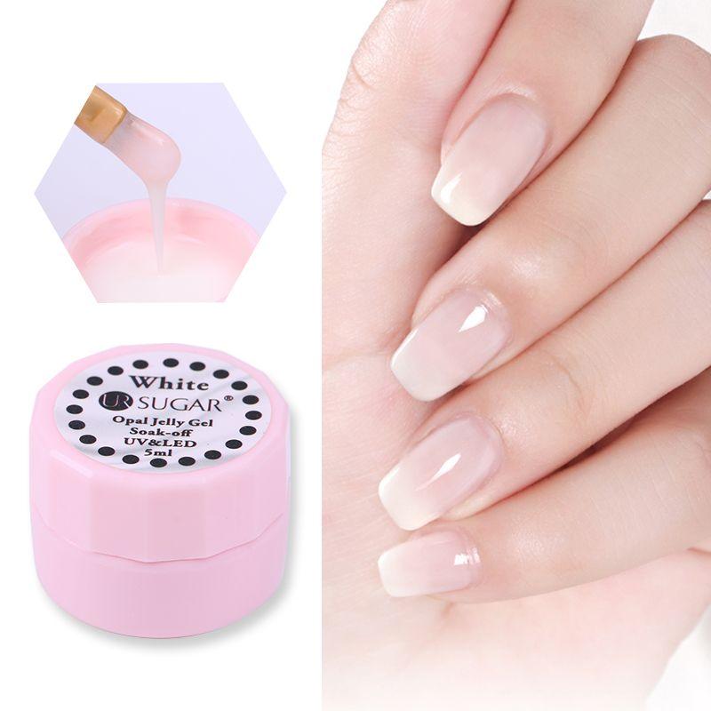 Ur Sugar Opal Jelly Nail Gel Polish 5ml Semi Transparent White Soak ...