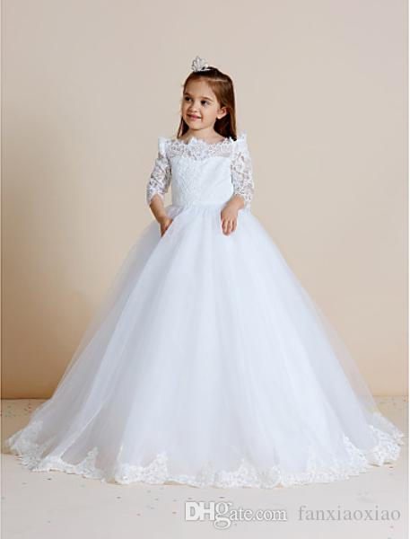 Couture Flower Girl Dresses with a Train