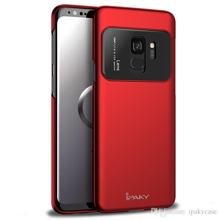 brand new f7f0d 3fb28 iPaky Case For Samsung Galaxy S9 Plus PC+Glass Back Cover S9+ Drop-proof  Shockproof Ultra Thin Hard Cases With Retail Package In Stock