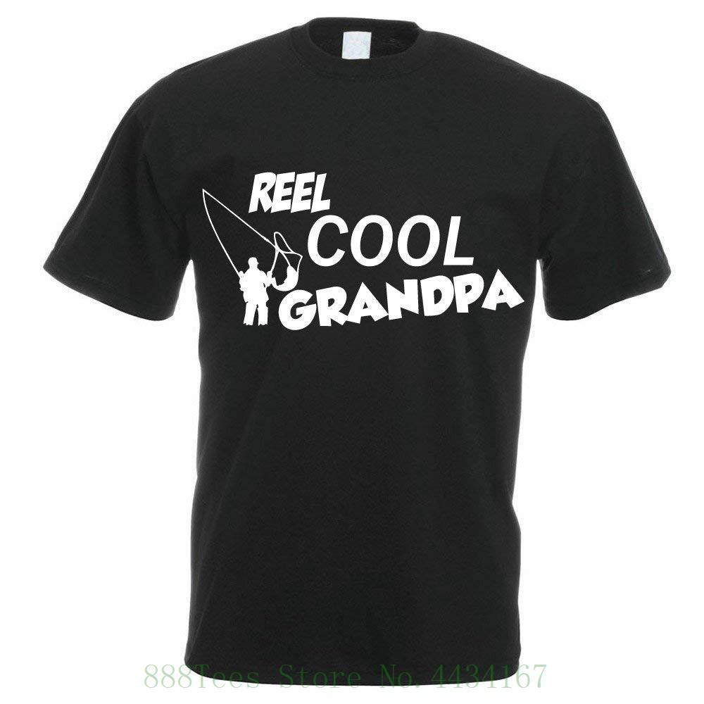 f7b6c0e3 Funny Fisher T shirt Reel Cool Grandpa Fisherman Angler Men's Dad Grandad  Grandpa Gift Idea T Shirt Fashion