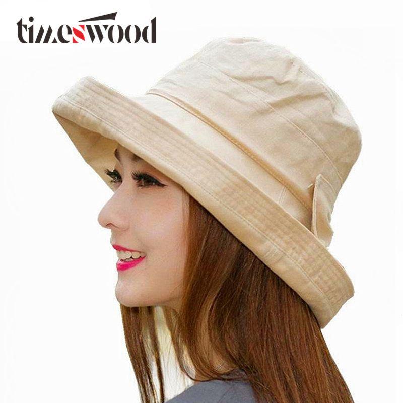 6aa69c096e2 2019 Women Bowknot Sun Hat