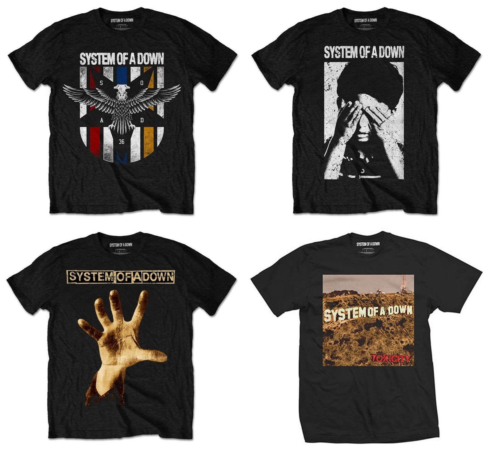 9b83e695be0d7 Compre Sistema De A Down Camiseta SOAD Toxicity Mezmerize Serj Tankian Korn  Top Oficial De Shirtifdesign