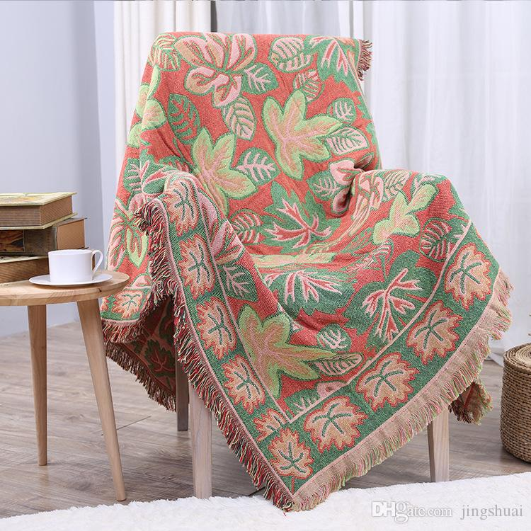 Maple Leaf Sofa Towel Sofas Covers Cotton For Sofa Blanket With Tassel  Slipcover Seat Couch Cover For Living Room Rental Tablecloths Slip Cover  Couches From ...