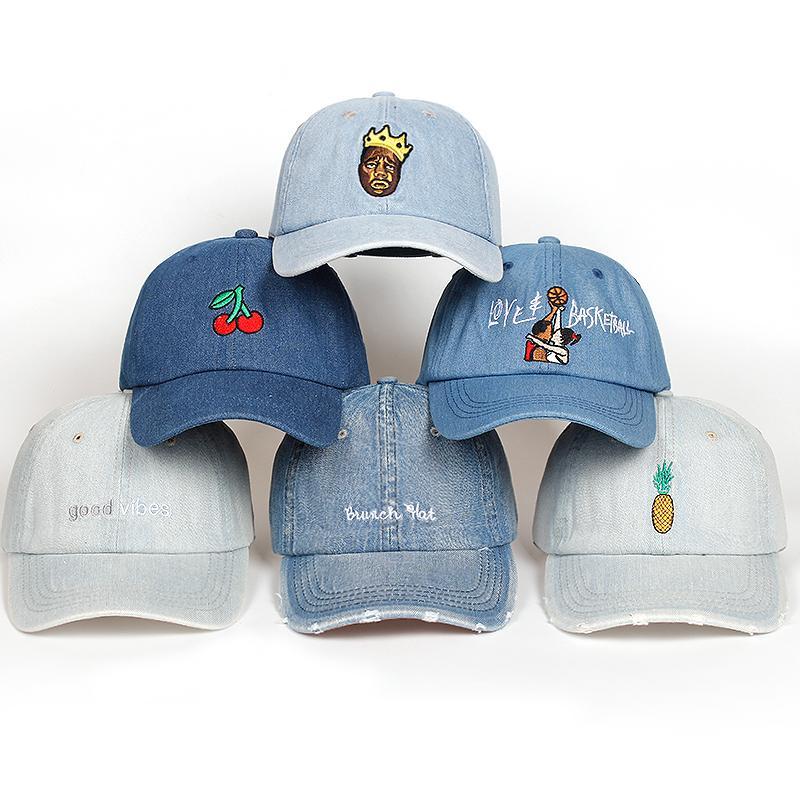 High Quality Cotton Washed Denim Snapback Cap Baseball Cap For Men ... 5576584a50f