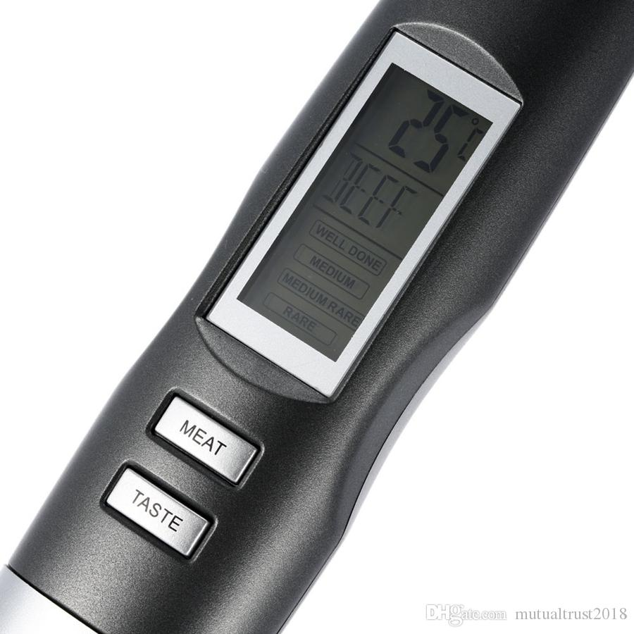 BBQ Meat Fork Digital Thermometer Probe Beef/Turkey/Steak Grilling Roasting Barbecue Oven Food Kitchen Thermometer Hanging Cooking Tools