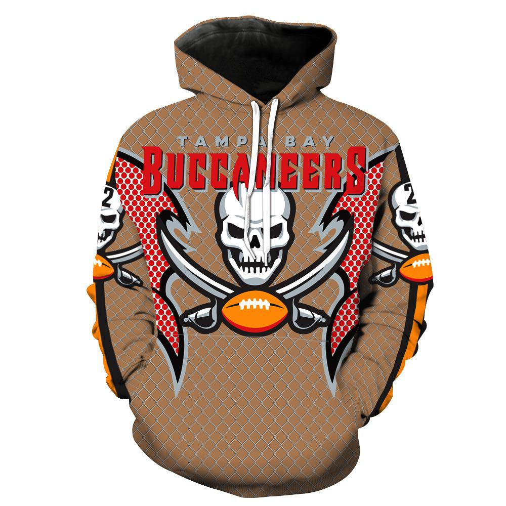 Nice 2019 Tampa Bay Buccaneers 3D Printing Hoodies With Hat Street Autumn  free shipping