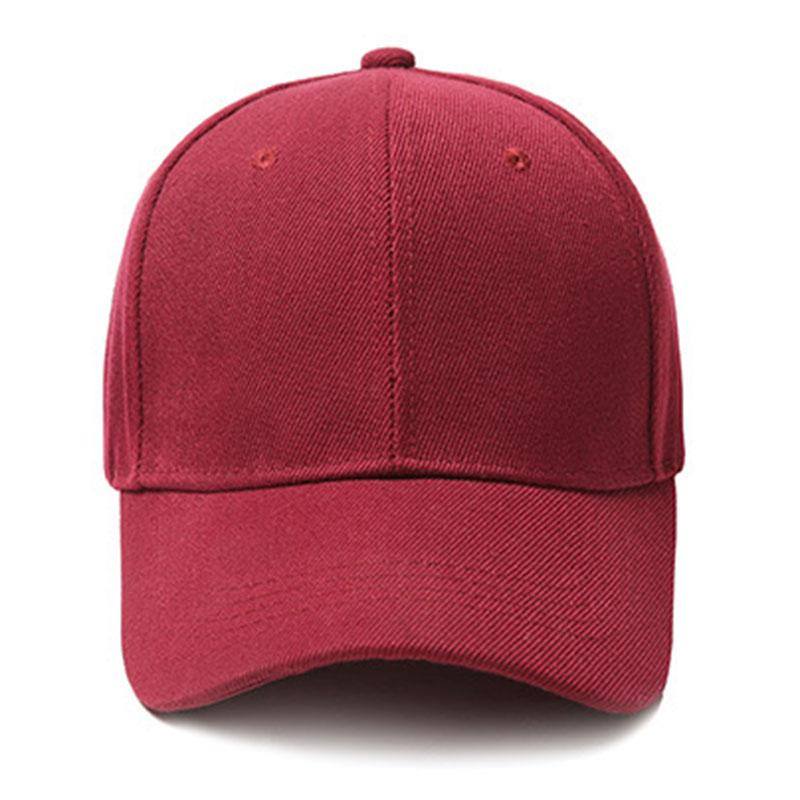 Wine Red Canvas Baseball Cap Adjustable Summer Autumn Outdoor Hat Women Men  Sun Hat Free Dropship Unisex Baseball Caps Custom Fitted Hats Design Your  Own ... f7a5e96b247b