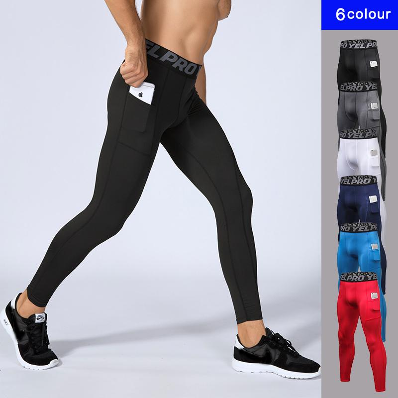 Compre Nuevos Hombres Compresión Deporte De Bolsillo Mallas Para Correr  Pantalones Para Correr Para Hombre Gimnasio Entrenamiento Físico Deporte  Para Correr ... 0c4e9f89a4844