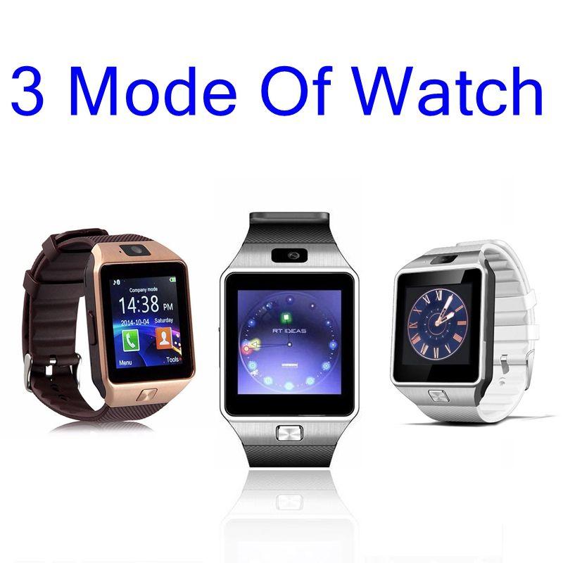 faf7f781ade Compre Bluetooth Smart Watch Relógio De Pulso Para Apple Android Dz09  Smartwatch Para Iphone Samsung Telefone Inteligente Com Câmera Dial Chamada  Resposta ...