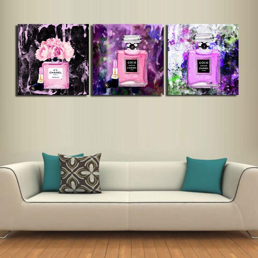 2018 Perfume,Lipstick Modern Abstract Canvas Oil Painting Print Wall ...