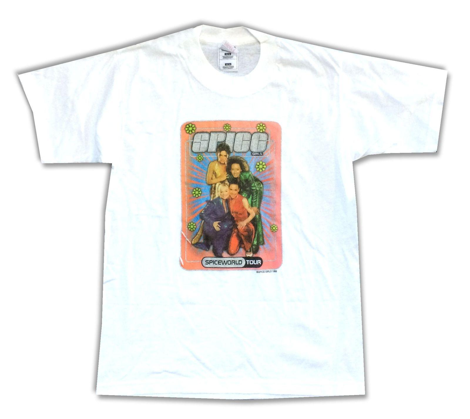 5dee10ce8 The Spice Girls Spice World Tour Kids Youth White T Shirt New Official  Merch Tees Custom Jersey t shirt