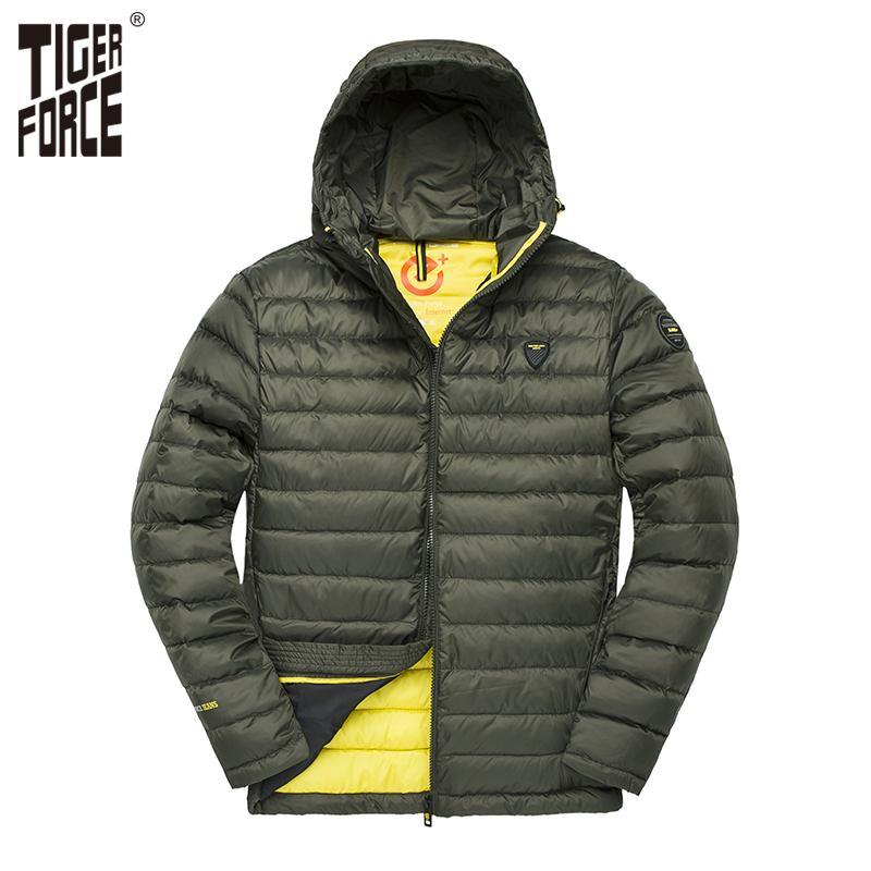 Großhandel Tiger Force Männer Kapuzenjacke Mode Frühling Winter Baumwolle  Gepolsterte Jacken Einfarbig Casual Parka Männlichen Puffy Mantel Mit Hoody  ... 43d27bbfb0