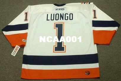 ef8df339c Men  1 ROBERTO LUONGO New York Islanders 1999 CCM Retro Away Home Hockey  Jersey Or Custom Any Name Or Number Retro Jersey UK 2019 From Ncaa001