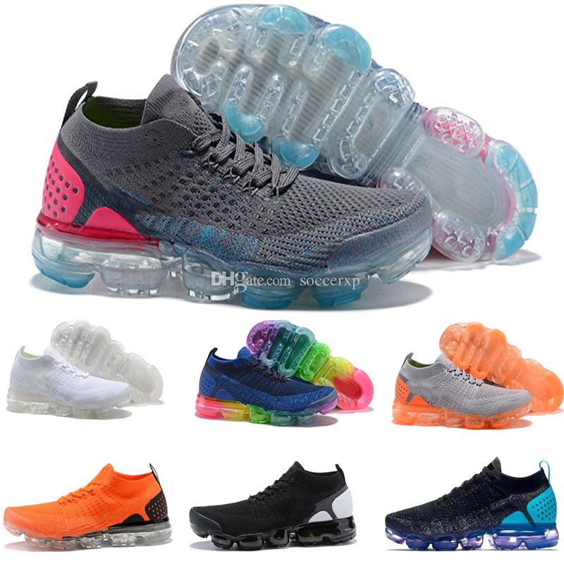 Cheap New Vapormax 2.0 Air Cushion Running Shoes Men   Women Vapormax 2018  Trainers Breathable Knit Sneaker Sport Shoes Fashion Jogging Walking 3edd2226a