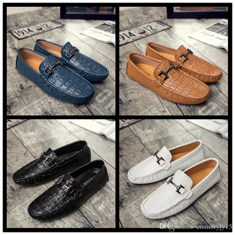 2018 Men Shoes Luxury Brand 2018 Loafers Man Ballet Flats Pointed ... 7f77a4d4e3