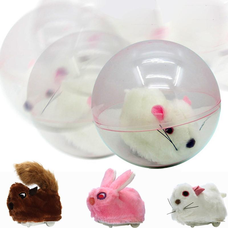 Plastic Plush Running Hamster In A Ball Electric Pets Plush Rolling  Interesting Plush Hamster Children s Intelligence Toy Kids Toy Birthday