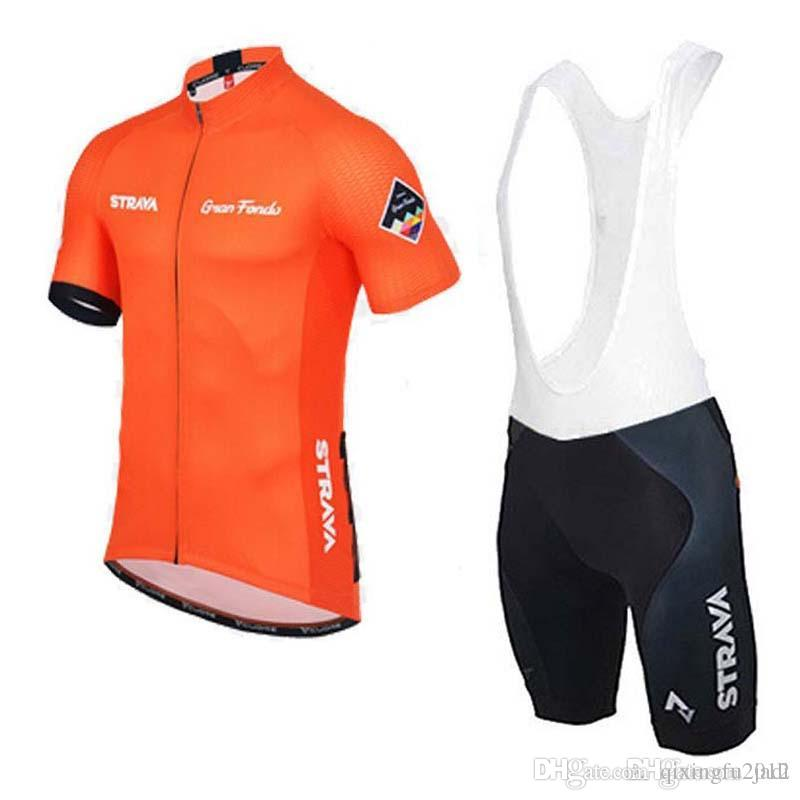 93b4211bf Hot Sale 2018 STRAVA Cycling Jersey Men Pro Team Summer Ropa Ciclismo MTB  Mountain Bike Cycling Clothing Mtb Bike Bib Shorts Set C1407 Cycling Jersey  ...