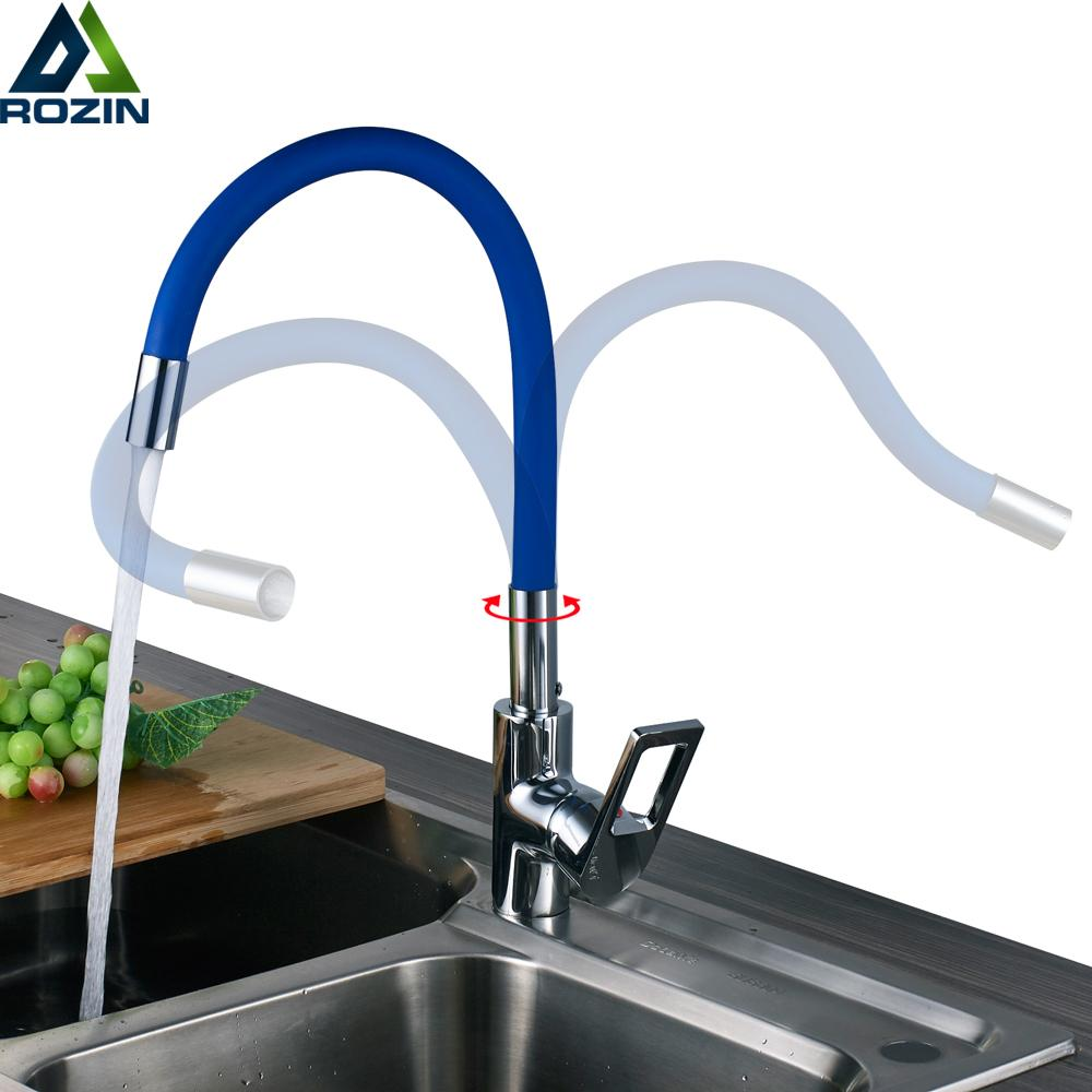 2019 Newly Green Kitchen Sink Faucet One Hole Any Derection Hot And