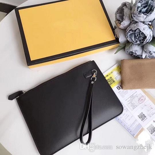 new arrival fashion men bag casual day briefcase black clutch commercial for men envelope bag for male with card with box