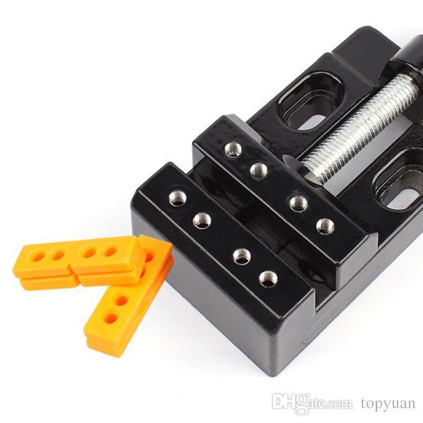 57mm Ajustável Mini Jaw Bench Braçadeira Broca Vice Abertura Paralelo Mesa Vise DIY Escultura Artesanato Ferramenta Mão