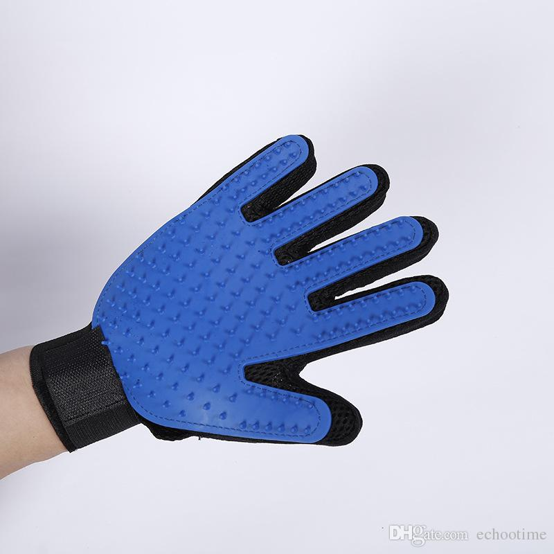 High Quality Silicone Pets brush Glove Deshedding Gentle Efficient Pet Grooming Glove Dog Bath Pet cleaning Supplies Pet Gloves Accessories