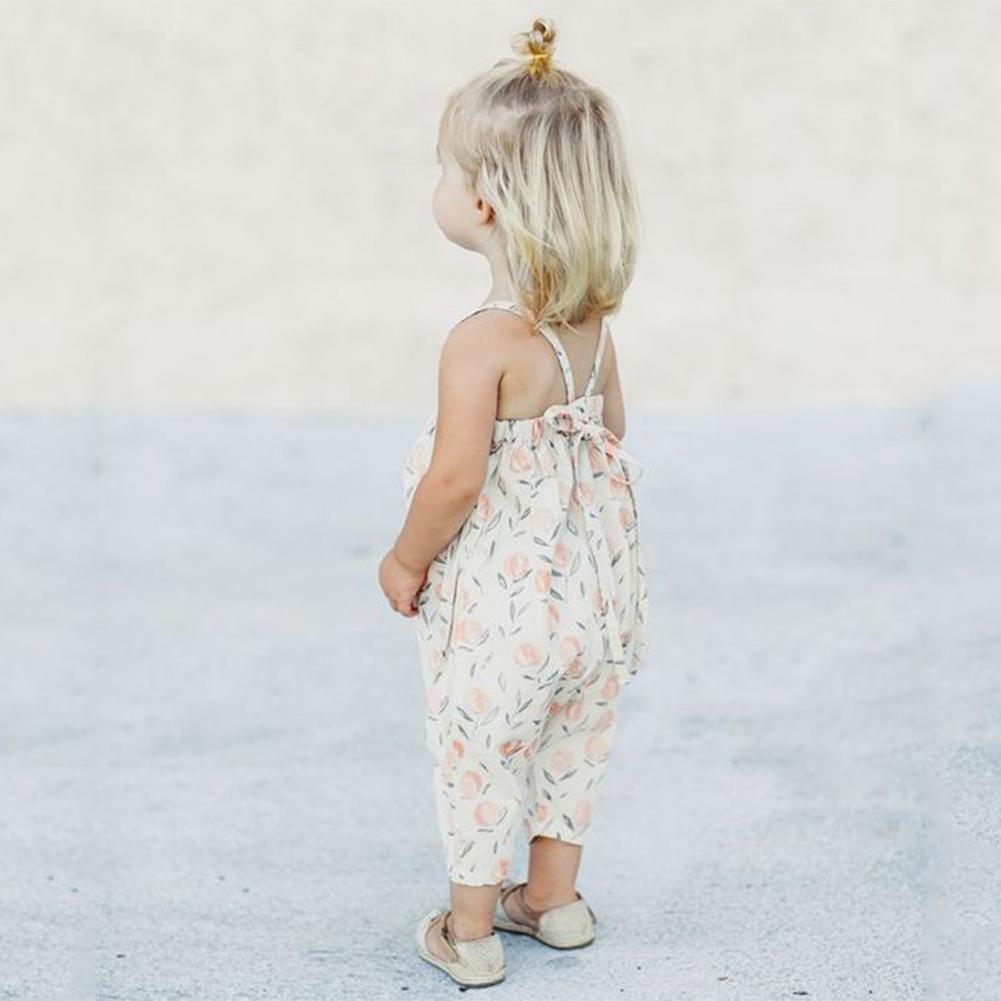 최신 여름 아기 소녀 꽃 무늬 바지 점프 수트 바디 슈트 소프트 여자 서스펜더 Sunsuits 옷 의류 여자 점프 슈트