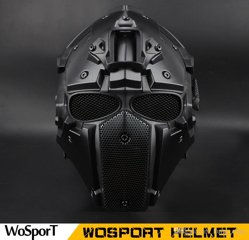 Acheter Vente Chaude En Plein Air Casque Tactique Airsoft Paintball Tactical  Casque De Protection Casque CS Équipement Chasse CS Euipment De  170.86 Du  ... 84225ff03a5a