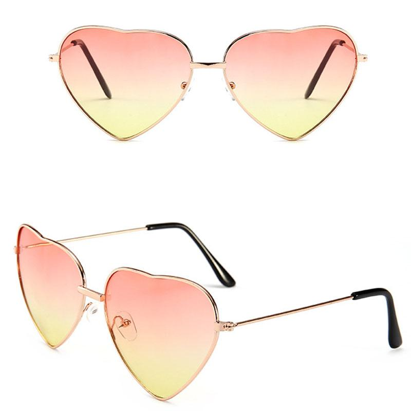 b05791c21765a Heart Shaped Sunglasses Women Metal Frame Reflective Lens Sun Protection  Sunglasses Men Mirror De Sol Fashion Designer Sunglasses Sunglasses For  Women From ...