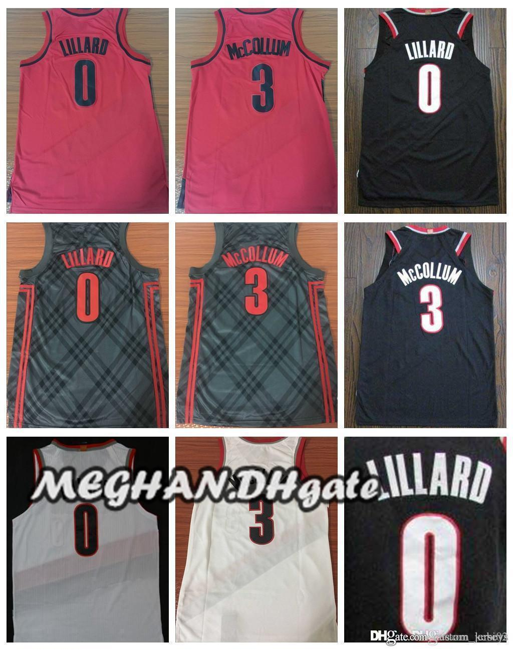 7e79eab62a6 ... czech 2018 trail blazers 2018 0 damian lillard city jerseys embroidery  splice 3 cj mccollum all