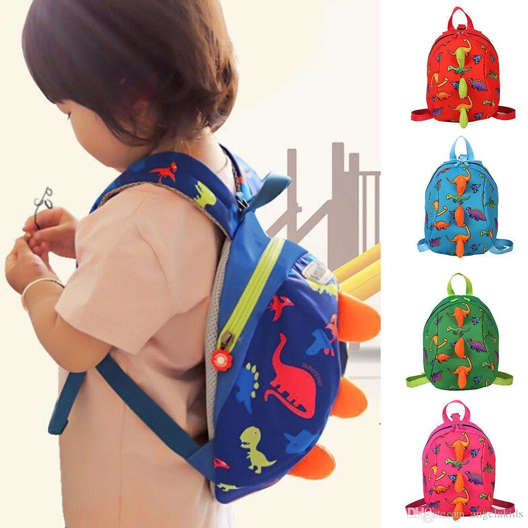Kinder Rucksäcke Cartoon Baby Dinosaurier Sicherheitsgurt Strap Bag Rucksack Zügel Kind Kleinkind Walking Strap Bag