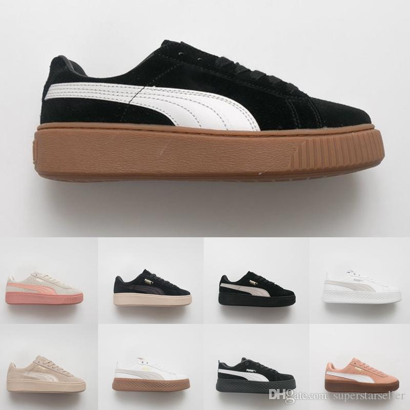 Rihanna Fenty Creeper PM Basket Classic LFS Platform Casual Velvet Cracked  Leather Suede Men Fashion Designer Running Sneaker Womens Trainer Designer  Shoes ... 421a1fec6