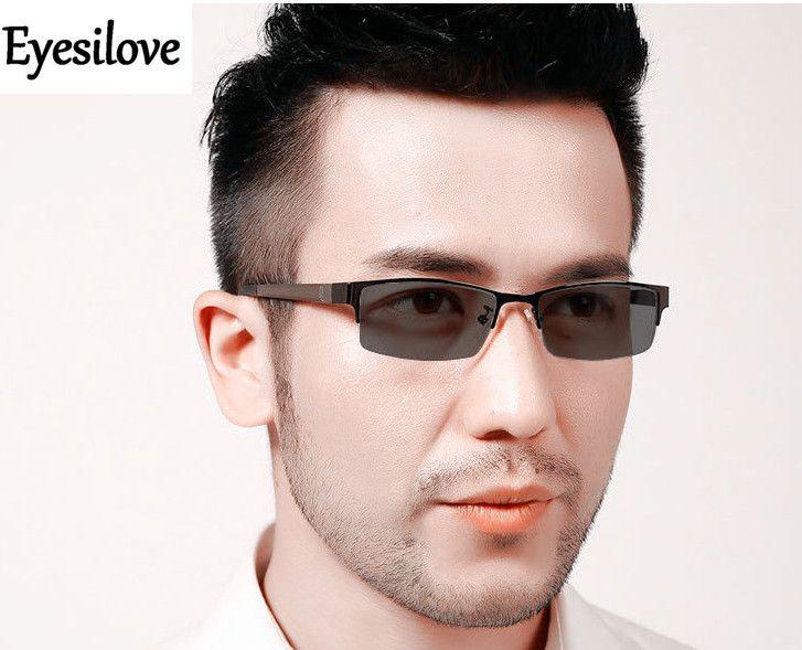 922389dbdf4da Eyesilove men s myopia glasses photochromic glasses Nearsighted with Sensitive  Lenses Transition Lenses -0.00 to -6.00