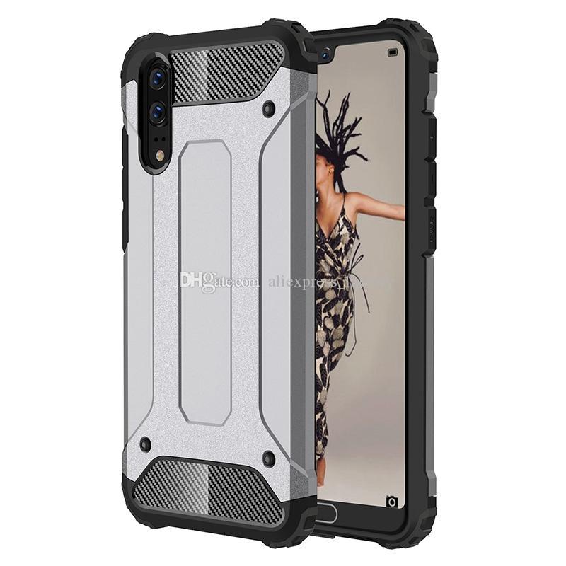 Стальная броня полный гибридный защитник робот комбо жесткий пластиковый чехол для Huawei P30 Pro P20 Lite Mate 30 20 X Nova 5 5i Y7 Y9 Prime