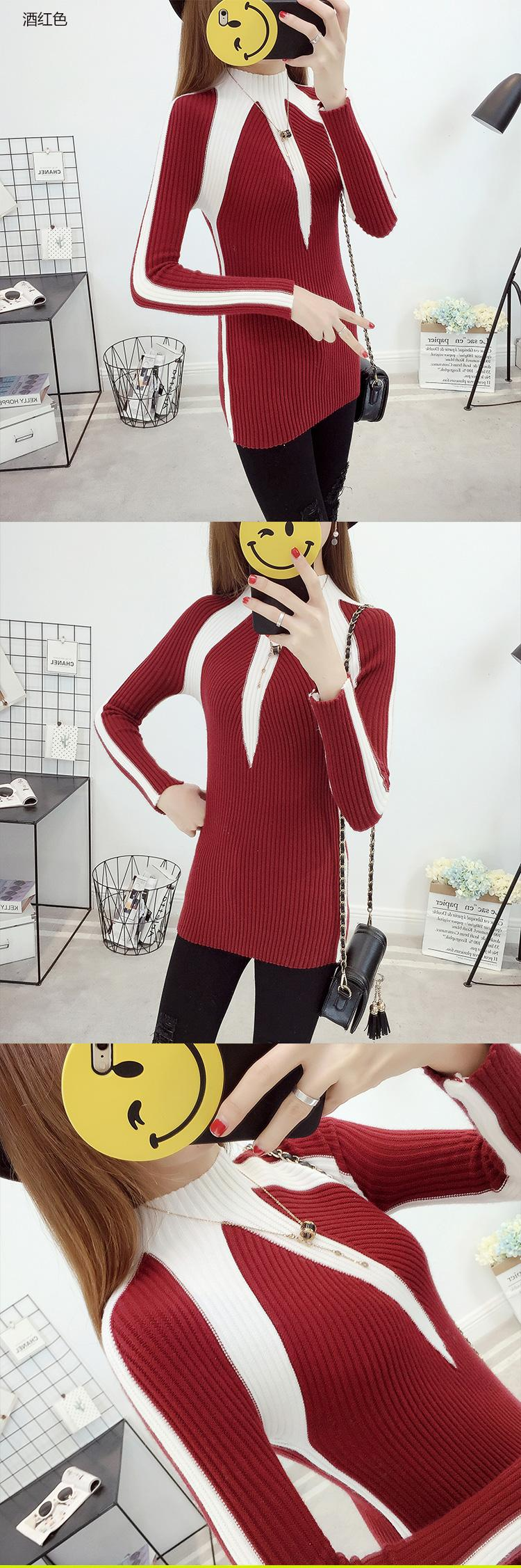 Contrast Color Winter Sweaters Pullovers Women 2018 Fashion Jumpers Korean Knitting Thick Christmas Gift Sweater For Girls