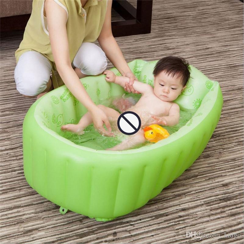Baby BathTub Kids Bathtub Portable Inflatable Cartoon Safety Thickening Washbowl Baby Bath for Newborns Swimming Pool K0100