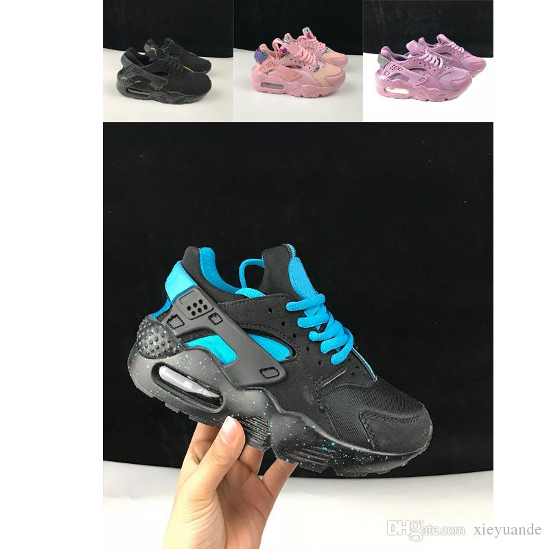 purchase cheap 403b3 34cb7 Großhandel Nike Air Huarache 1 3 4 Kinder 350 Huarache Klassik Weiß Schwarz  Huarache Schuhe Große Kinder Jungen Mädchen Männer Frauen Huaraches  Turnschuhe ...