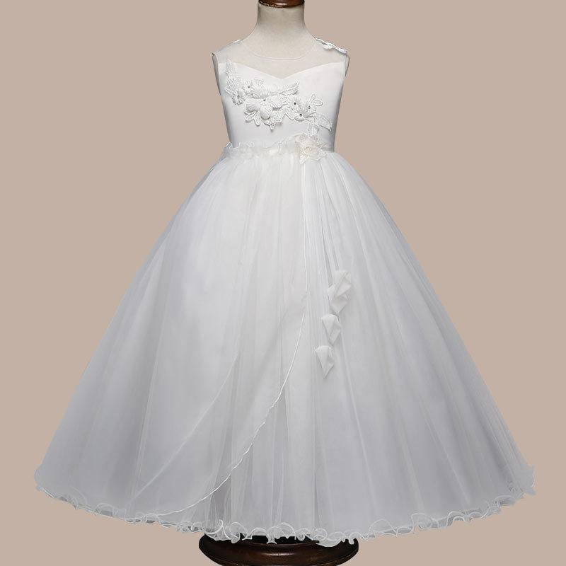 966bc5c3a6 European And American Princess Skirt Girl Net Dress Lace Bead Lace Flower  Skirt Flower Dress / Wedding Dress Factory Direct Sale / Wholesale Ivory  Dresses ...