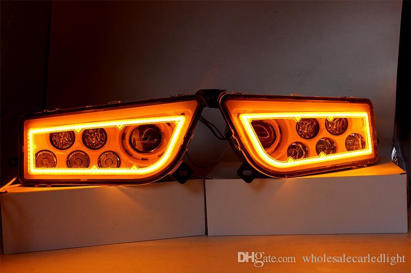ATV Polaris Generale 1000 Led Faro anteriore, Polaris RZR XP1000 / Turbo Full Halo Angel Eyes Kit faro di ricambio LED