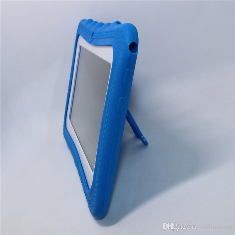 Satış! 7 inç AllWinner A33 Q88pro Çocuk Tablet PC Android 4.4 512 MB + 8G Quad core kazasında geçirmez hediye renkli çocuk tabletleri