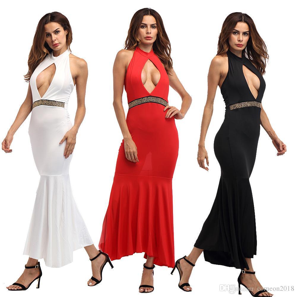 Designer Women Clothes Summer Dresses 2018 Bandage Dress Sexy Halter ... 55be75a79